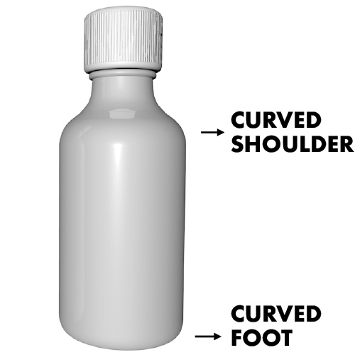 SpinLabel Curved Foot and Curved Shoulder