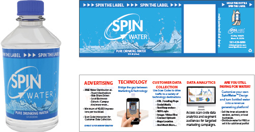 Customized Spinwater Labels